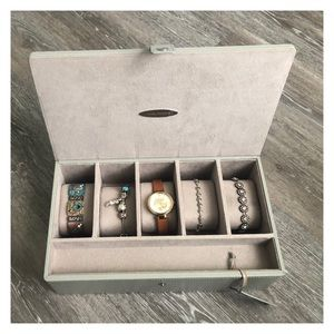 Drexel Heritage leather watch/bracelet/jewelry box